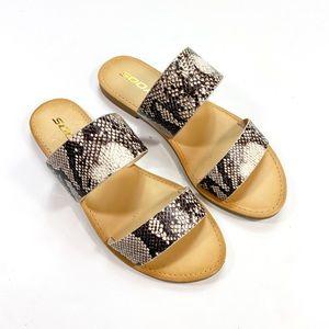 New Soda Sneakprint Sandals